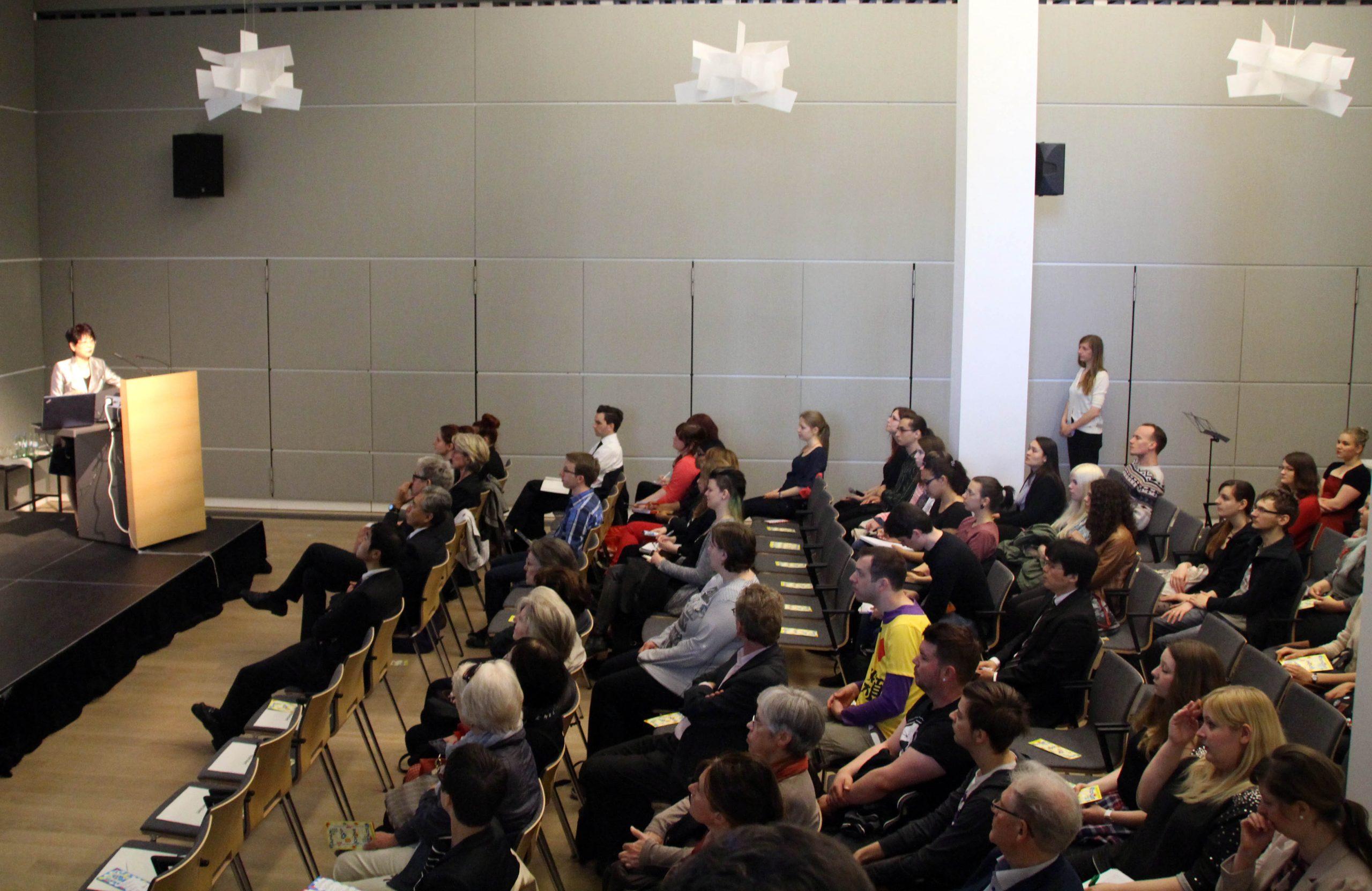 Publikum im Haus der Uni