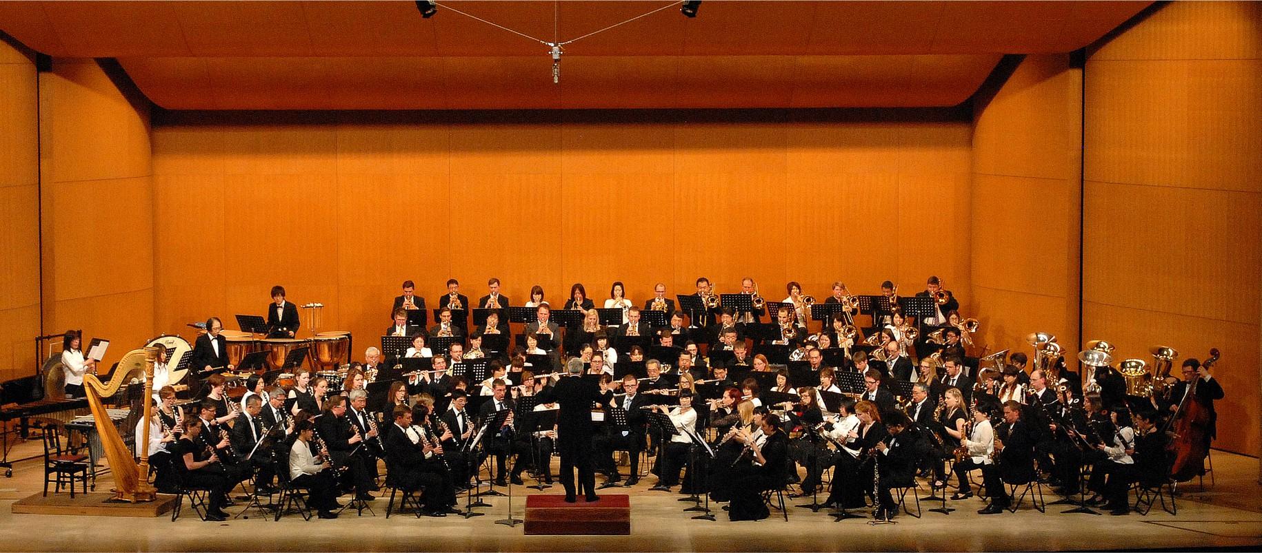 Die Omiya Wind Symphony und die Westfalen Winds beim gemeinsamen Konzert in Japan